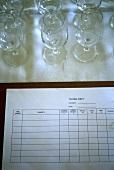 Wine-tasting sheet