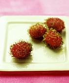 Einige Rambutan