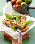 Frittata pomodoro e basilico(Omelett mit Tomaten & Basilikum)