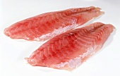 Two raw fillets of Nile perch