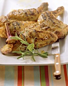 Pollo all'aglio (Grilled chicken with garlic & herbs)