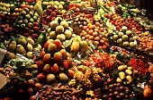 Exotic fruit on a market stall