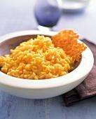Risotto alla milanese (saffron risotto, Italy)
