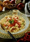 Pasta al tonno (pasta with tuna and tomato sauce, Italy)