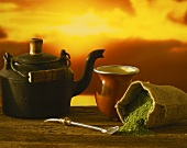 Chimarrao (Brazilian Mate tea), kettle, straw, cup