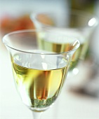 Glass of white wine (detail)