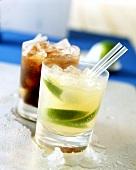 Vodka Lemon, Cuba Libre behind
