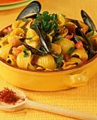 Conchiglie alla zuppa di cozze (Pasta in mussel soup)