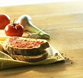 Pa amb oli (toasted bread with oil and tomatoes, Majorca)