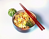 Pad Thai (wok-cooked noodles with tofu, Thailand)