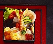 Chirashi-sushi ('scattered sushi', Japan)