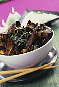 Mussels in coconut milk and white wine stock with lemon grass