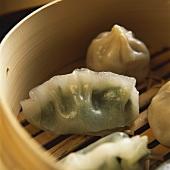 Assorted Dim Sum in bamboo steamer