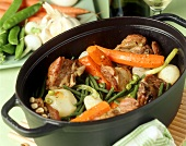 Stew with lamb and spring vegetables