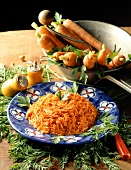 Grated raw carrot