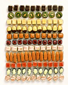 Eleven sorts of petit fours