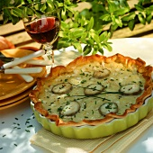 Tarte au chevre (goat's cheese tart, France)