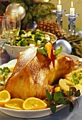 Roast duck with exotic fruit