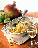 Risotto alla zucca (pumpkin risotto), Piedmont, Italy