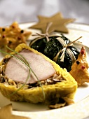 Cocada, (Pork fillet in pastry with pamonhas)