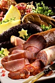 Lomo, chorizo, morcilla (Spanish sausage specialities)