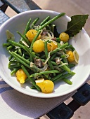 Haricots verts à la niçoise (green beans with anchovies)