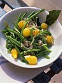 Haricots verts à la niçoise (grüne Bohnen mit Sardellen)