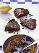 Thon grillé (grilled tuna, Côte d'Azur, France)