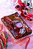 Polish Easter cake decorated with gelatine (Mazurek)