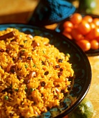 Pilaw (traditional Middle Eastern rice dish with raisins)