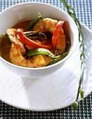 Curried shrimp stew