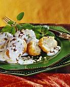 Dahi wada (deep-fried lentil balls with yoghurt, India)