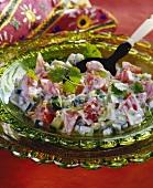 Raita (cucumber salad with yoghurt, India)