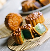 Mid-autumn moon cake (pastry with lotus seeds, Peking, China)