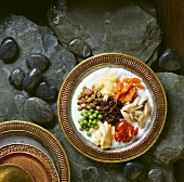 Nei ma chu ma (salad with yoghurt, vegetables & ginseng, Tibet)