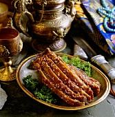 Luo ke zi ma zha ba (mutton cutlets, Tibet)
