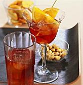 'Americano' & 'Negroni' (Cocktails mit Vermouth und Campari)