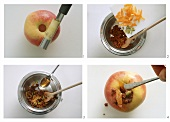 Preparing apple with dried fruit stuffing - main picture 139700