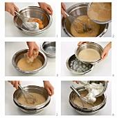 Making mocha cream