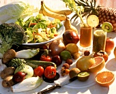 Fruit, vegetables and juices for vitamins