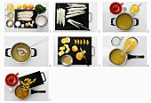 Preparing plaice fillets with orange sauce, Pt 1