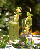 Freshly squeezed kiwi fruit juice