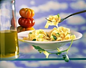 Ribbon pasta with courgettes