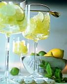 Lemon and lime granita