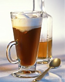 Irish Coffee in Stem Glasses