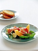 Melon with ham and bocconcini