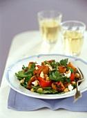 Pumpkin and parsley salad