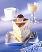A piece of Malakoff cake