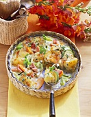 Potato and vegetable bake with ham