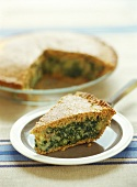 Cheese and chard pie
